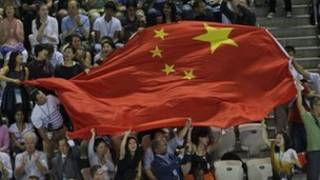 伦敦奥运支持中国队的观众