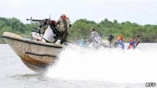 مسلحون في دلتا النيجر