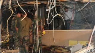 انفجار في مقر التلفزيون السوري
