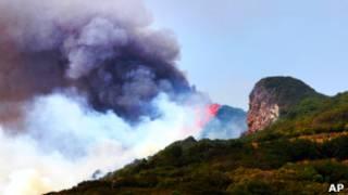 Пожар на острове Ла Пальма
