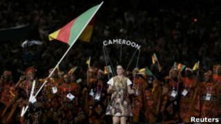 敦奥运开幕式上喀麦隆运动员入场