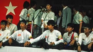 Bà Aung San Suu Kyi phát biểu ngày 26/8/1988