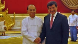 သမ္မတ ဦးသိန်းစိန်နဲ့ တူရကီနိုင်ငံခြားရေး ဝန်ကြီး