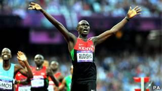 Umukinnyi David Lekuta Rudisha wa Kenya