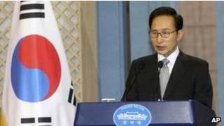 الرئيس الكوري الجنوبي لي ميونج-باك