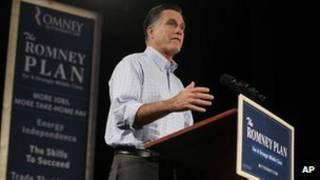 Mitt Romney durante campanha (AP)