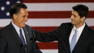 Mitt Romney da Paul Ryan