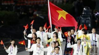 Đoàn Việt Nam trong lễ khai mạc Olympic