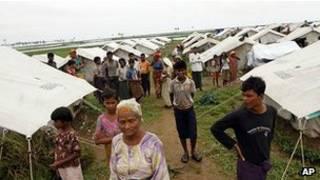 Sansanin musulmi a Burma