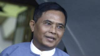 Former Informinister U Aung Kyi