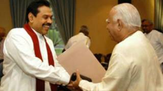 President Rajapaksa meets TNA leader (file photo)