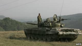 Российский танк в Южной Осетии