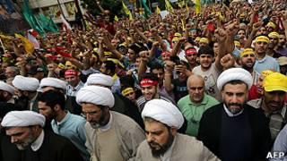Protestas en Medio Oriente