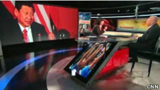 Hình ông Tập Cận Bình trên CNN hôm 19/9/2012 khi ông không xuất hiện trước công chúng trong suốt hai tuần vì đau lưng