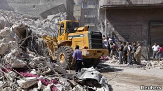 Улицы Алеппо после артналета