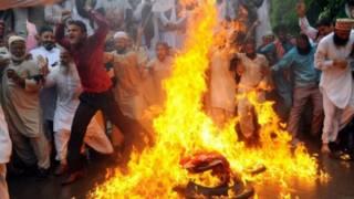 """Protesta contra la película """"La inocencia de los musulmanes"""""""