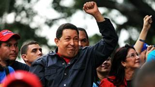 Huga Chávez en campaña