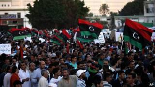 Анти-исламистская демонстрация в Бенгази, Ливия, 21 сентября 2012 года