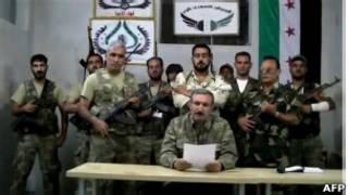 Кадры из видеообращения повстанцев на YouTube