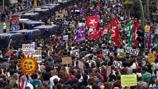 مظاهرات في إسبانيا