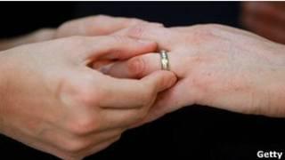 Обмен кольцами при браке