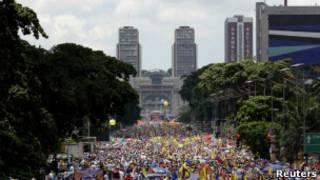 Митинг в Каракасе