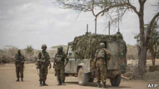 Abasirikare ba Kenya mu mutwe wa AMISOM muri Somalia.