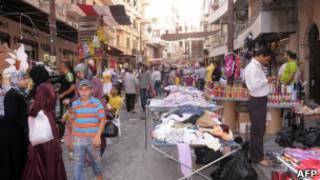 Рынок в старом городе в Алеппо