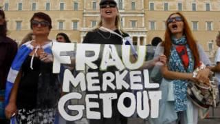 ग्रीस में मैर्केल का विरोध