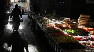 Mercado de alimentos en India