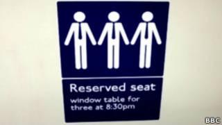 Pegatina en el metro de Londres