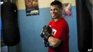 El boxeador puertorriqueño Orlando Cruz