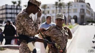 Ливийские военнослужащие