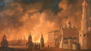 Пожар Москвы в 1812 году (художник Александр Смирнов, 1813 год)