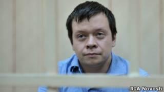 """Задержанный активист """"Левого фронта"""" Константин Лебедев"""