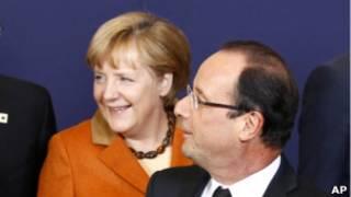 Ангела Меркель и Франсуа Олланд