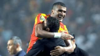 Mohamed Ben Mansour après un but