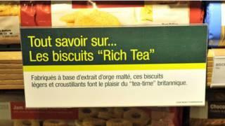 Galletas inglesas en un supermercado francés