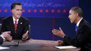 मिट रोमनी और बराक ओबामा