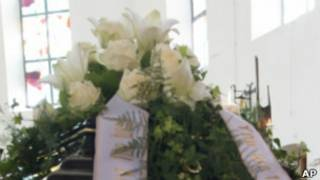 Гроб с цветами