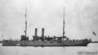 Американский крейсер на мурманском рейде