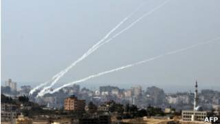 Пуск ракет из Газы