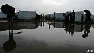 Лагерь беженцев-рохингья