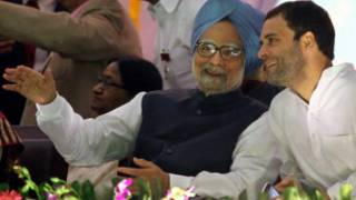मनमोहन सिंह और राहुल गाँधी