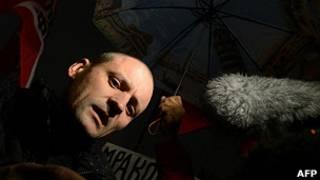 """Координатор """"Левого фронта"""" Сергей Удальцов на митинге 30 октября 2012 года в Москве"""