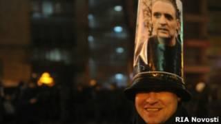 Развозжаев на протесте против ареста Удальцова