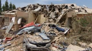 Разрушения после нападения боевиков