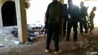 Видеокадр расстрела в Сирии