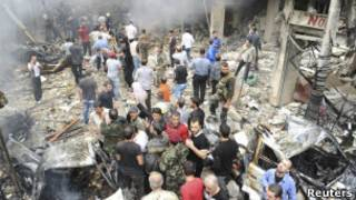 Разрушения в Сирии.