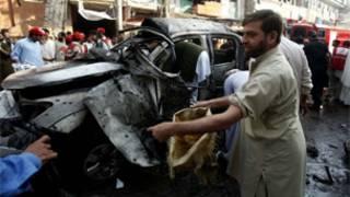 فائل فوٹو، پشاور میں دھماکہ،